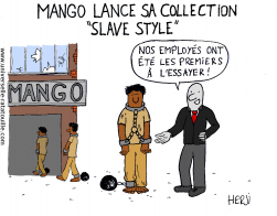 "Mango lance sa collection ""slave style"""