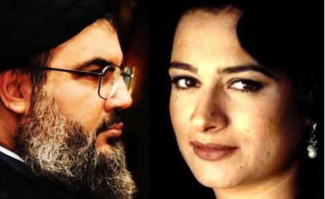 May Skaff et Nasrallah © Alarabiya News