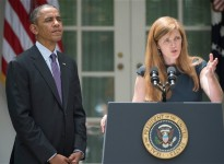 U.S Ambassador to the United Nations Samantha Power and President Barack Obama. Photo:  Photo: Getty Images.