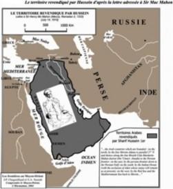 Territoire revendiqué par le Chérif Hussein lors de la correspondance avec MacMahon (1)