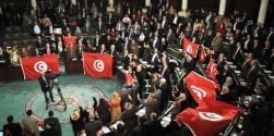 A l'Assemblée nationale constituante après le vote de la Constitution le 26 janvier. © AFP/STR (lemonde.fr)