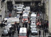 Attentat contre Charlie Hebdo, le 7 janvier 2015. Source image : AFP, Les Echos, http://www.lesechos.fr/politique-societe/societe/0204061296081-charlie-hebdo-ce-que-lon-sait-de-lattentat-1081065.php