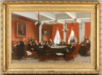 """The Geneva Conference. The Alabama Arbitration"", Painted circa 1873 by Charles Edouard Armand-Dumaresq"