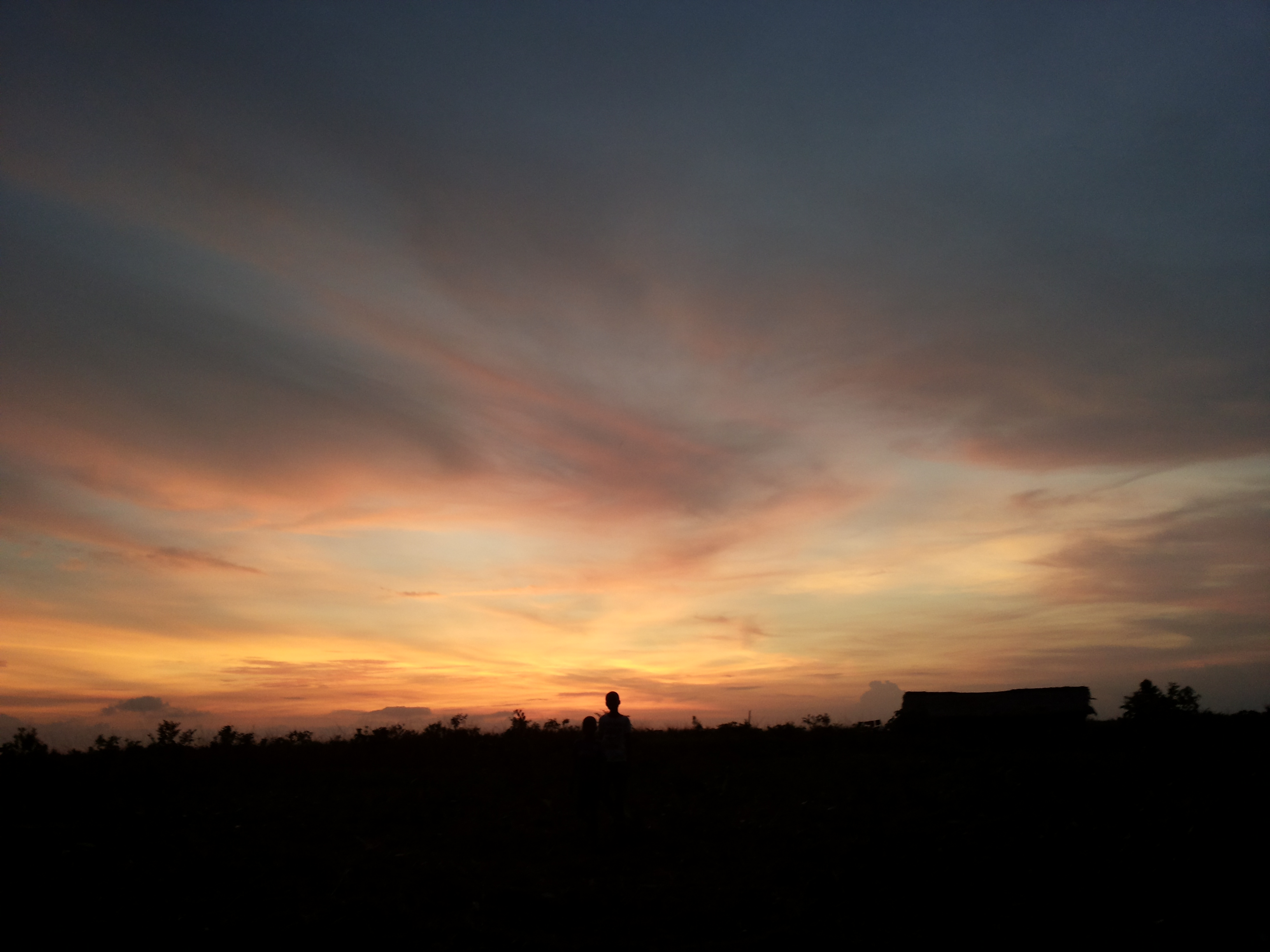 Couché de soleil, Kinshasa. [Emilie Linder]
