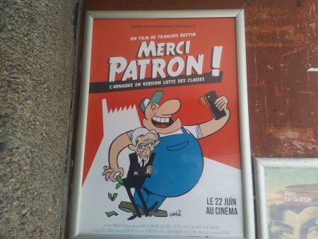 jet d'encre « Merci patron! », le film-événement français