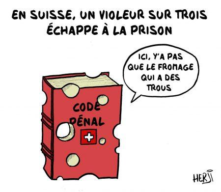 jet d'encre Des violeurs qui échappent à la prison ferme en Suisse