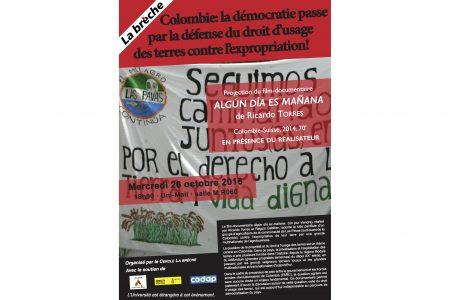 jet d'encre En Colombie, la démocratie passe par la défense du droit d'usage des terres contre l'expropriation
