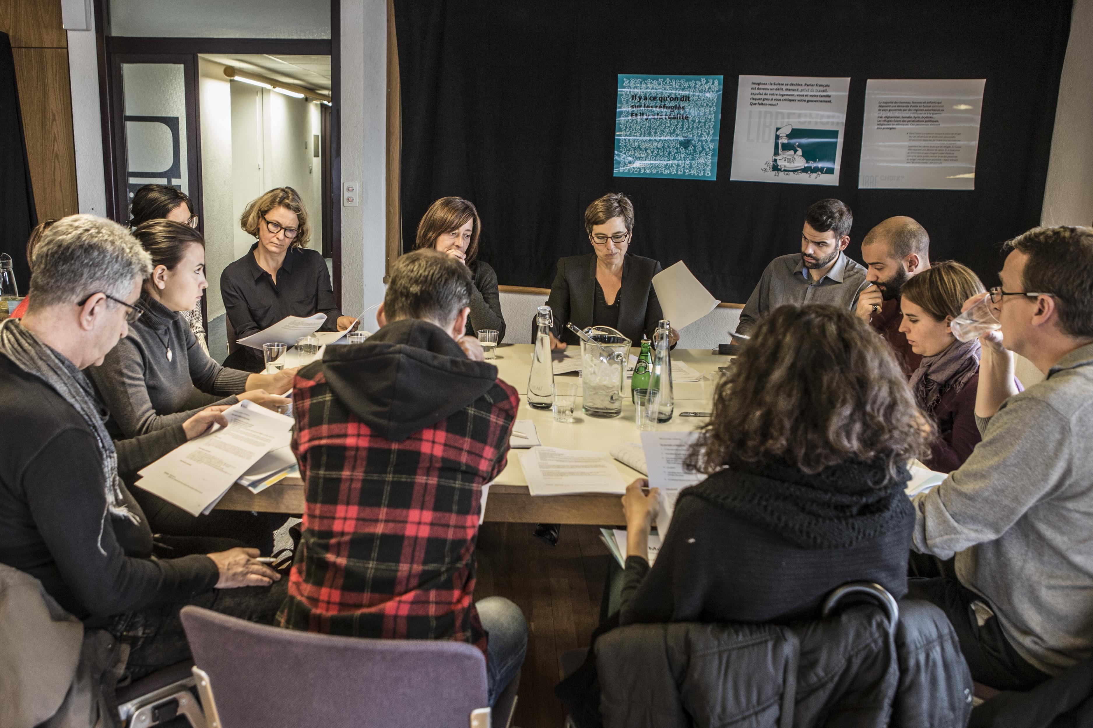 La rencontre s'est articulée autour de plusieurs ateliers thématiques. Sur la photo, l'atelier « Statistiques et discours officiels, vraiment neutres? ».