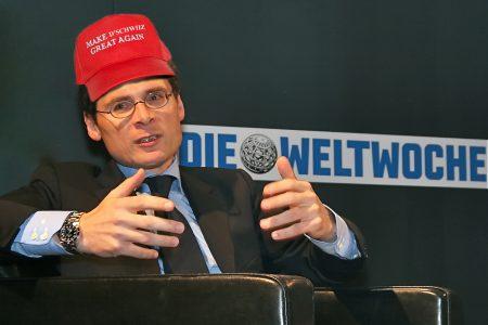 jet d'encre Roger Köppel dans la droite ligne de Trump à Genève