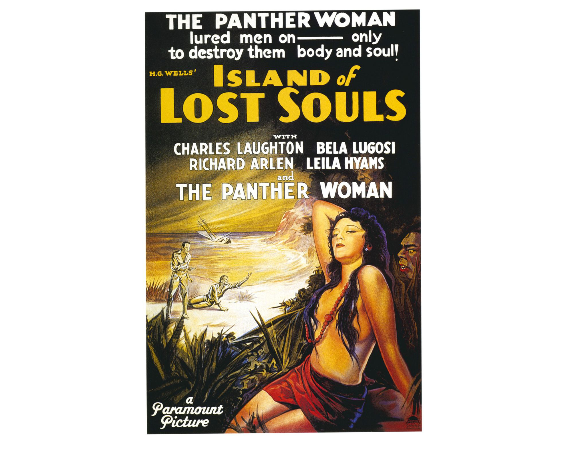 "Affiche du film ""Island of Lost Souls"", 1932."