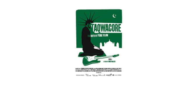 """Affiche du documentaire """"Taqwacore: The Birth of Punk Islam"""" (2009) réalisé par Omar Majeed."""
