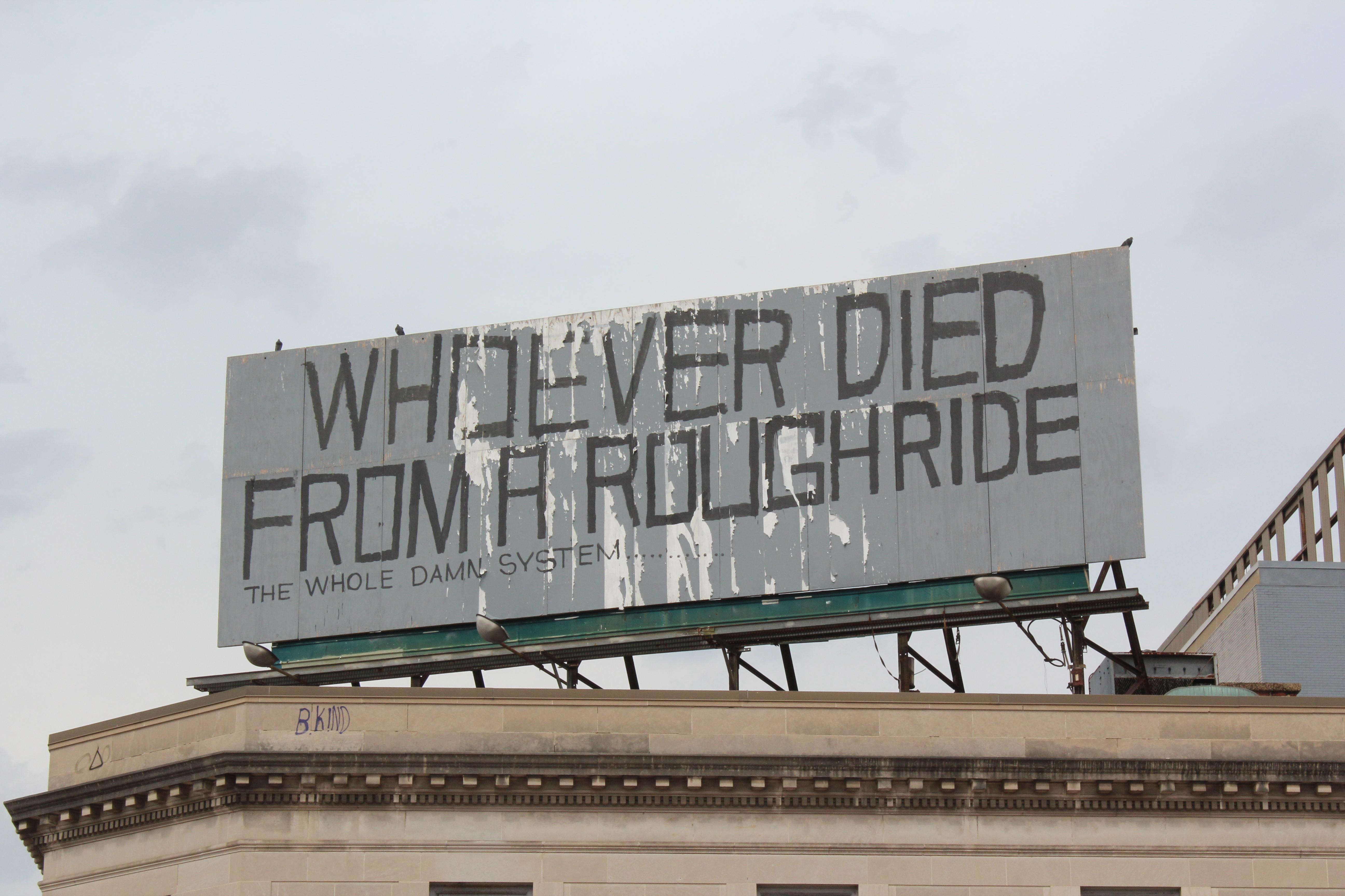 Tag dans le quartier de Sandtown-Winchester en référence à la mort de Freddie Gray. [E.Linder]
