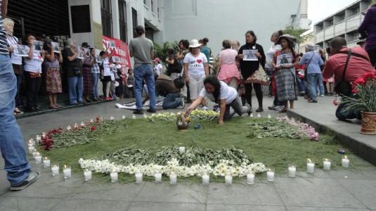 (c) Zuleika Romero, 26 avril 2013 lors d'une manifestation devant la CC