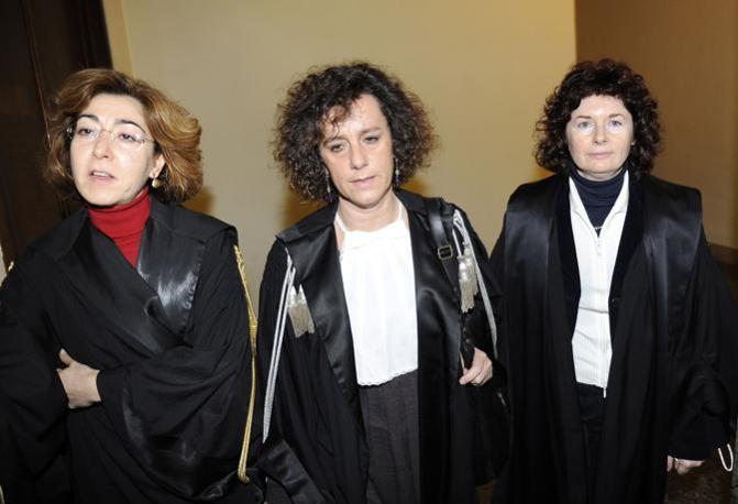 Les juges Carmen D'Elia, Giulia Turri et Orsolina Cristofaro, de gauche à droite. [DR]