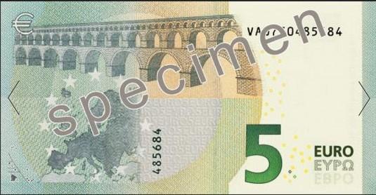 Le nouveau billet de 5 euros. © boursier.com