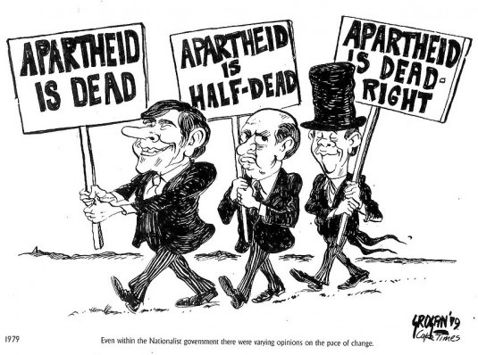 Cette caricature date de l'époque de l'Apartheid. © tonygrogan.co.za/cartoons.html