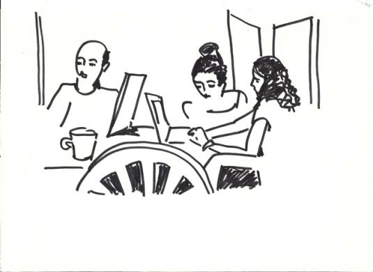Illustration Doris Tippenhauer : QG 2. Muhammad, Yasmina et Lina