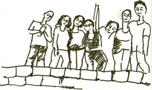 Illustration Doris Tippenhauer : Byblos. Lina, May, May, Mayssa, Yasmina…