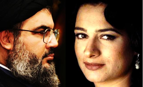 May Skaff et Nasrallah © Alarabiya News