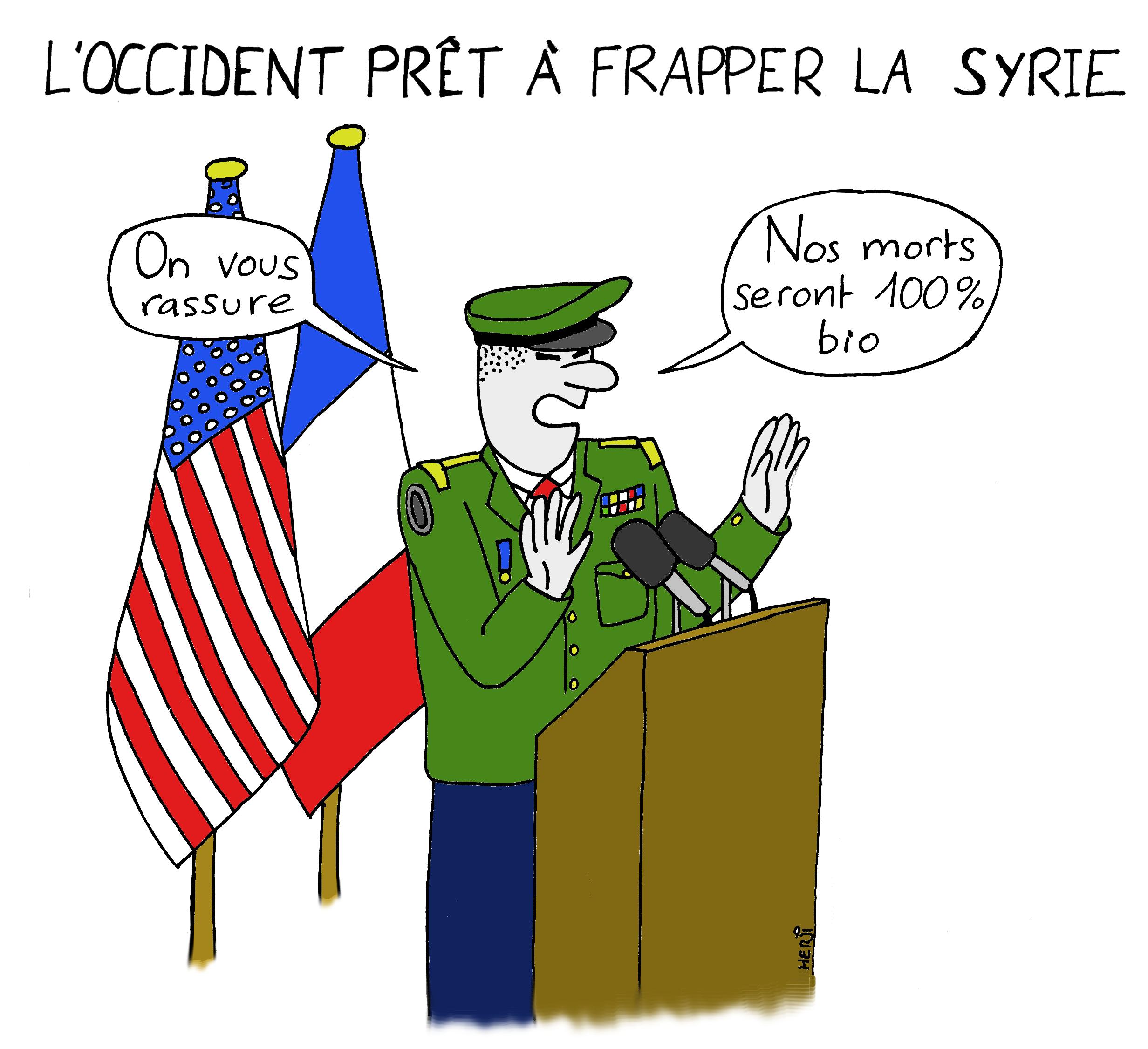 L'Occident prêt à frapper la Syrie