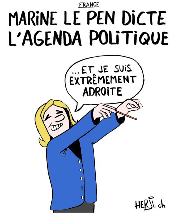 Marine Le Pen dicte l'agenda politique