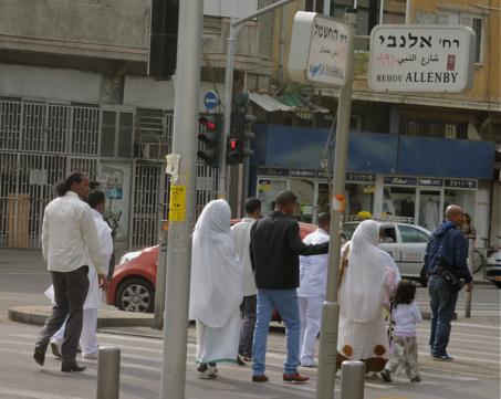 C'est dans le quartier de Florentine, au sud de Tel-Aviv que la concentration d'immigrants africains est la plus forte. (Décembre 2013, JDSV)