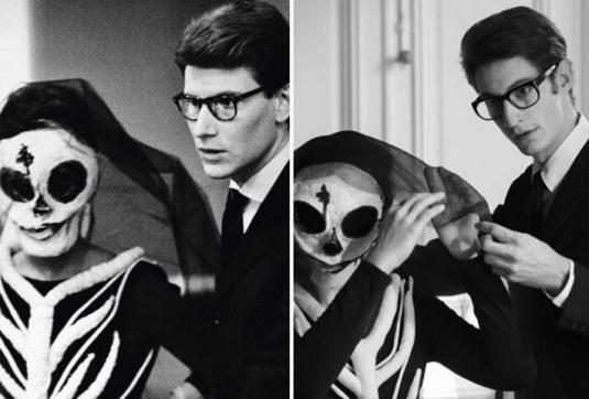 YSL ajustant les costumes pour Les chants de Maldodor - 1962 © à gauche: Botti/Gamma-Rapho | à droite: Guillaume Faure