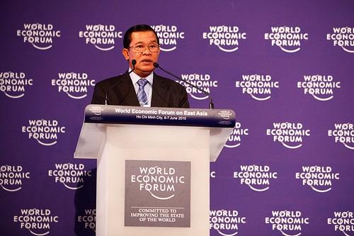 Hun Sen, l'inamovible Premier ministre du Cambodge. © World Economic Forum.