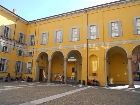 La cour intérieure de la faculté de sciences politiques de l'Università degli Studi di Milano. © DR