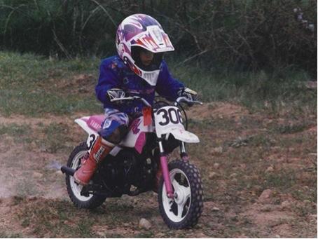 Marc Marquez sur sa première Pocket Bike. © Marc Marquez