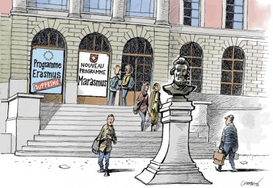 Avenir très incertain pour les relations Suisse-UE. © Chappatte