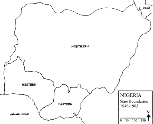 Source : FALOLA T, Violence in Nigeria : The Crisis of Religious Politics and Secular Ideologies, Rochester, University of Rochester Press, 1998, p. xi.