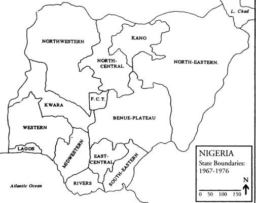 Source: FALOLA T, Violence in Nigeria: The Crisis of Religious Politics and Secular Ideologies, Rochester, University of Rochester Press, 1998, p. xii.