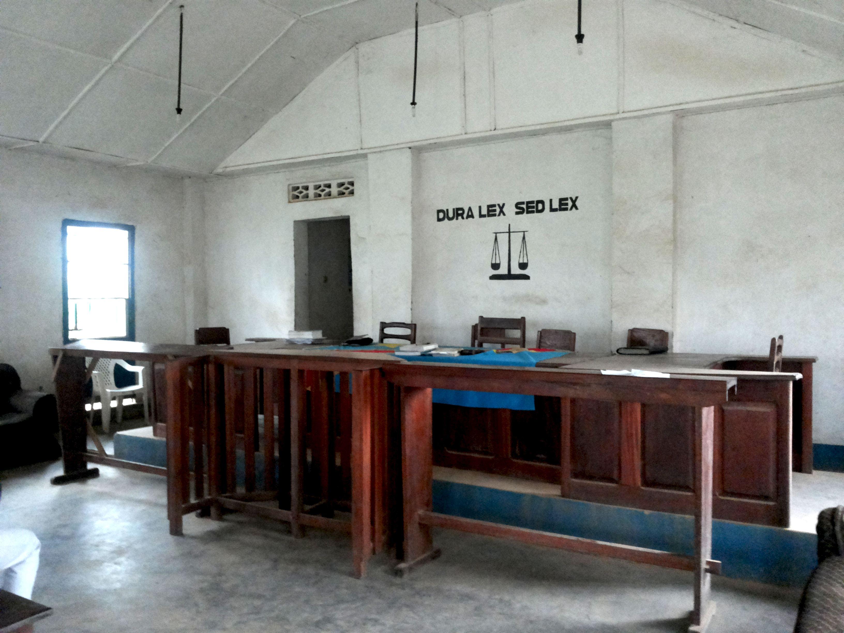 Tribunal militaire de Bunia [Emilie Linder]