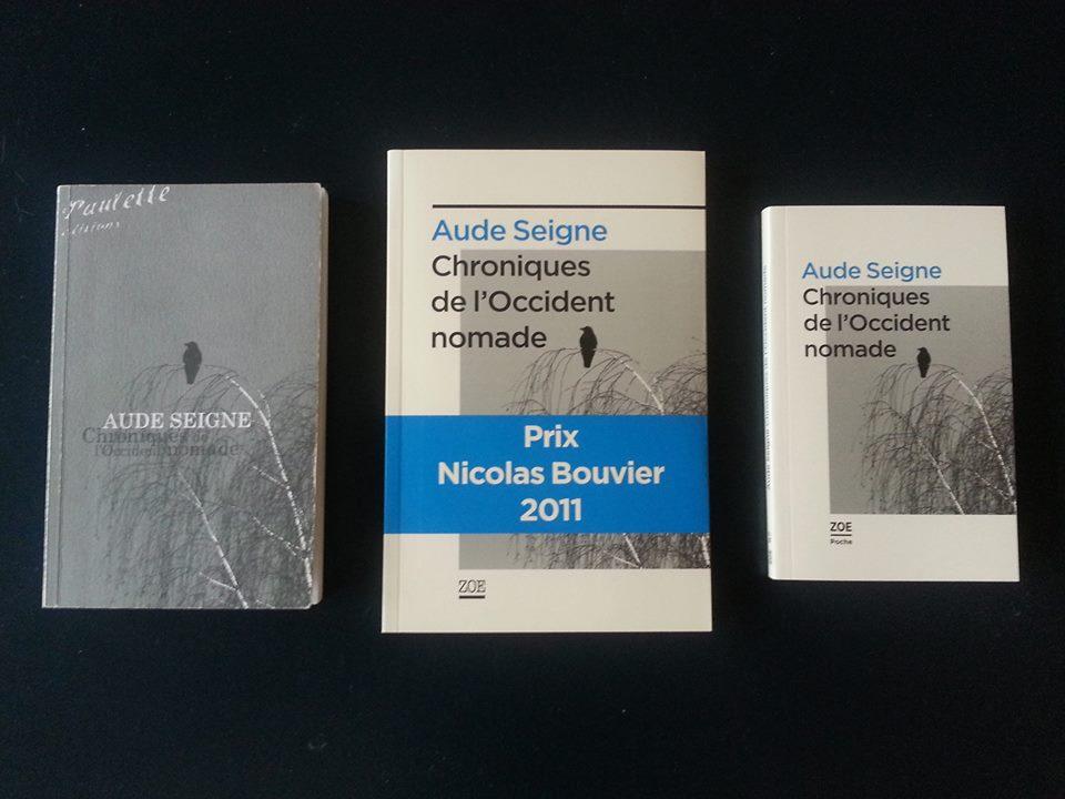 """Le premier roman d'Aude Seigne, """"Les chroniques de l'Occident nomade"""", a remporté le Prix Nicolas Bouvier en 2011."""