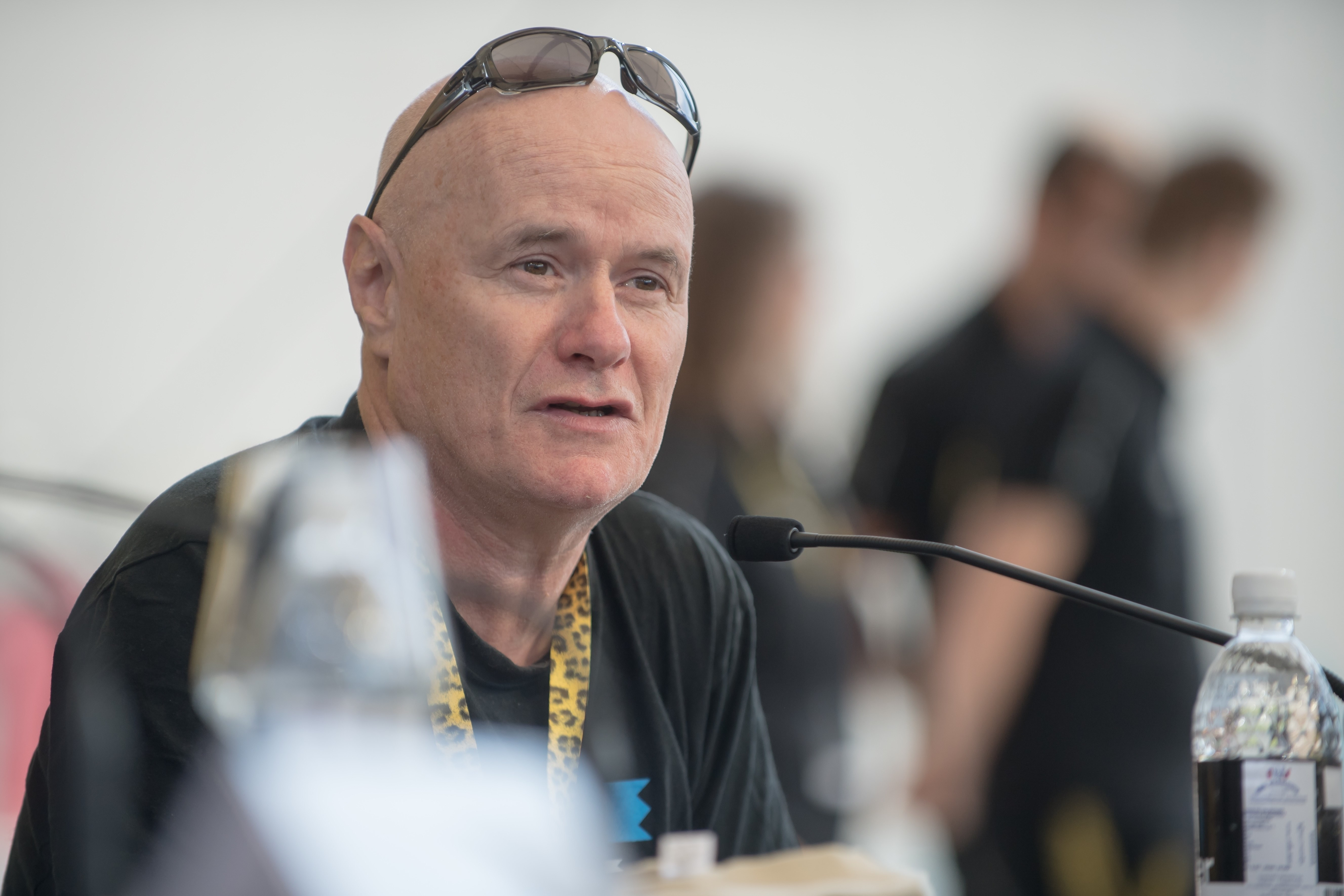 "Dave Jones, one of the main actors in the award-winning film, describing the shooting of ""I, Daniel Blake"". © Festival du film de Locarno / Pablo Gianinazzi"