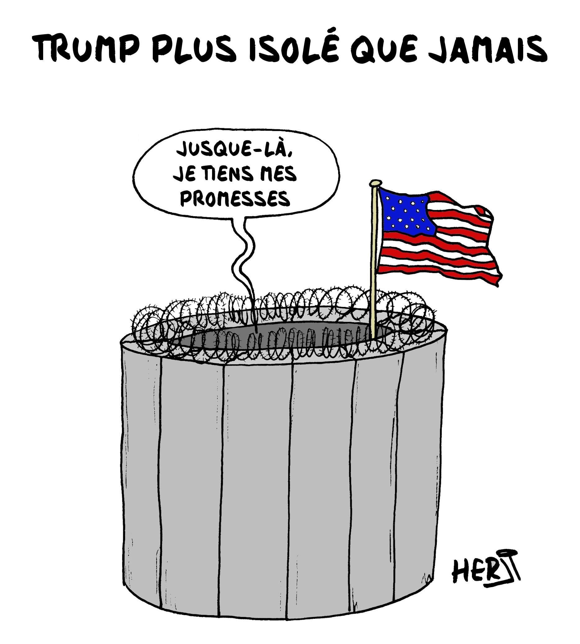 Trump plus isolé que jamais