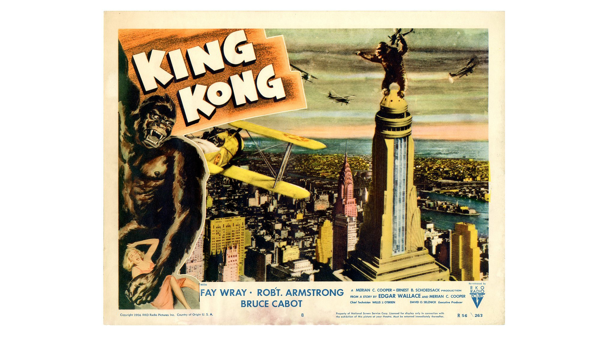 "Affiche du film ""King Kong"", 1933"