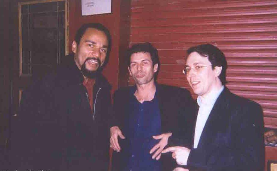 Photo Dieudo/Taddeï/Nabe; Légende: Dieudonné, Frédéric Taddeï et Marc-Édouard Nabe